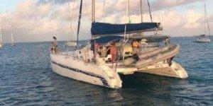 multihulldemoday - dean catamaran underway stern